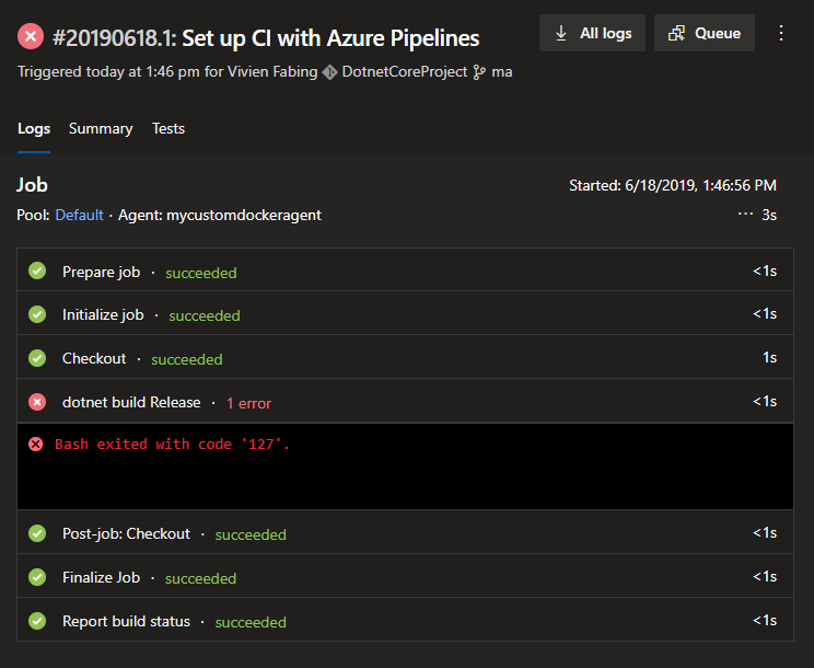 Azure Pipelines: How to add a build agent with Azure